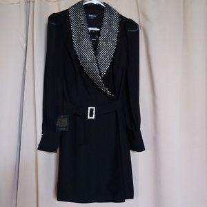 Babe Rhinestone Collar Dress, New With Tags